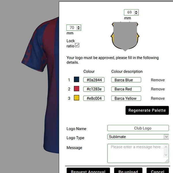 Offering end consumers a secure logos and sponsors upload option