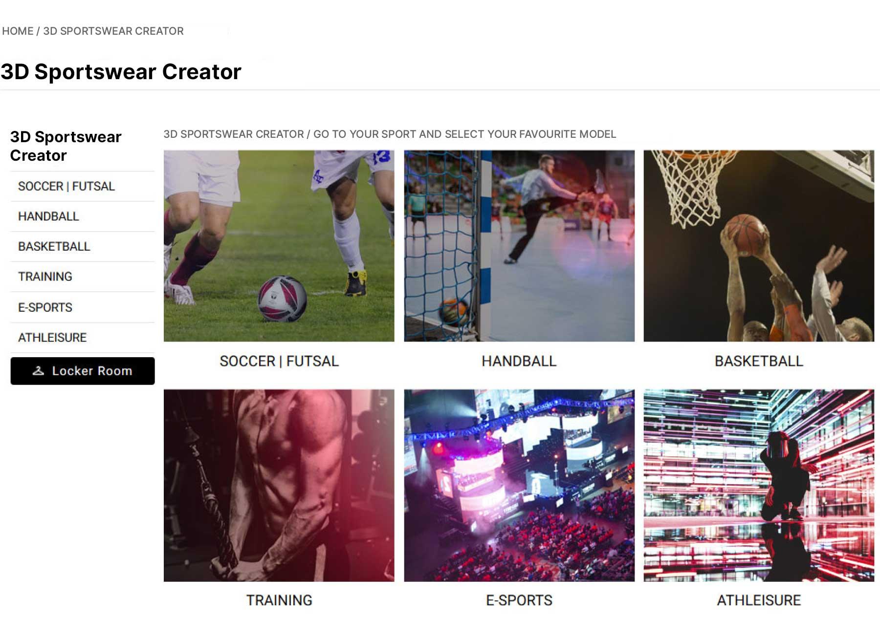 Mass Customization Solution - Sportswear Creator - SaaS platform
